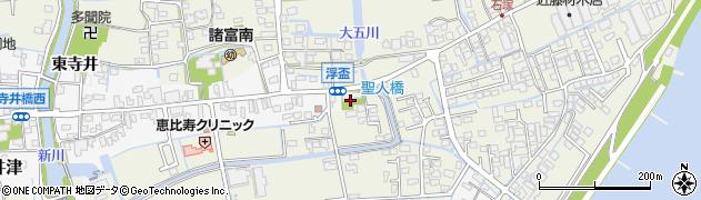 佐賀県佐賀市浮盃周辺の地図
