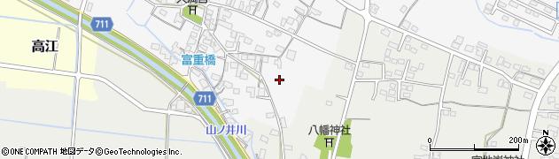 福岡県筑後市富重周辺の地図