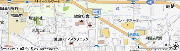 八女消防本部八女消防署周辺の地図