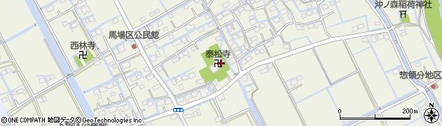 泰松寺周辺の地図