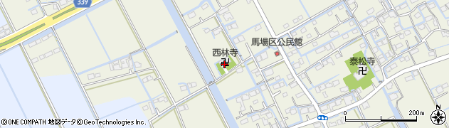 西林寺周辺の地図