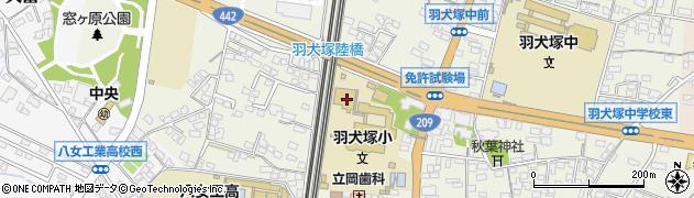 福岡県筑後市羽犬塚周辺の地図