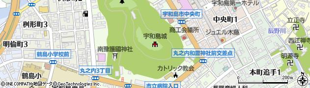 宇和島城周辺の地図