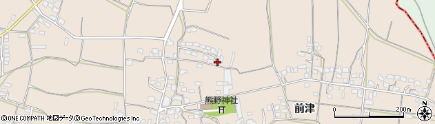 福岡県筑後市前津周辺の地図