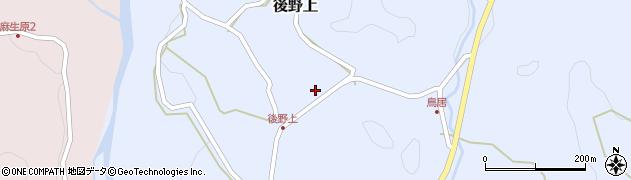 大分県玖珠郡九重町後野上394周辺の地図