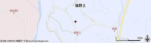 大分県玖珠郡九重町後野上381周辺の地図