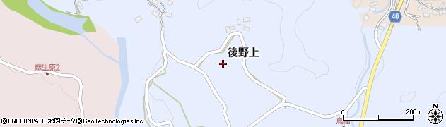 大分県玖珠郡九重町後野上421周辺の地図