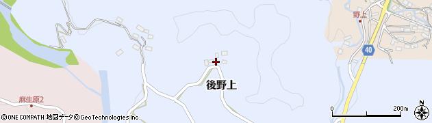 大分県玖珠郡九重町後野上415周辺の地図