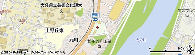 大分県大分市大分周辺の地図