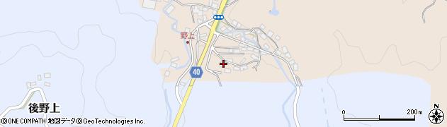 大分県玖珠郡九重町野上41周辺の地図