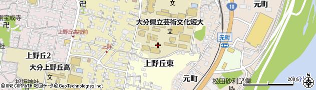 大分県大分市上野丘東周辺の地図