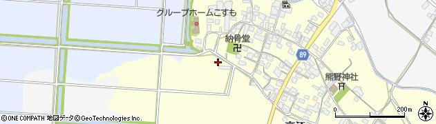 福岡県筑後市高江周辺の地図