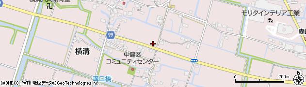 福岡県大木町(三潴郡)横溝周辺の地図