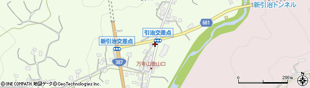 大分県玖珠郡九重町引治568周辺の地図