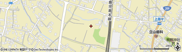 福岡県筑後市熊野周辺の地図