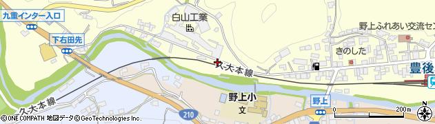 大分県玖珠郡九重町右田1048周辺の地図