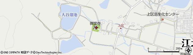 禅定寺周辺の地図