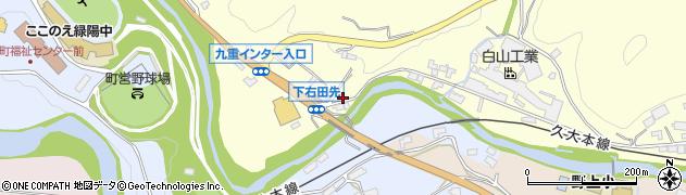 大分県玖珠郡九重町右田1304周辺の地図