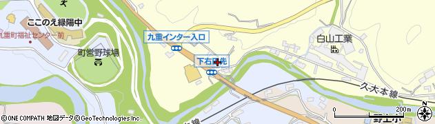 大分県玖珠郡九重町右田1322周辺の地図