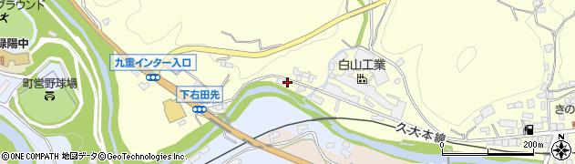 大分県玖珠郡九重町右田1293周辺の地図