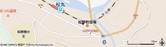 愛媛県北宇和郡松野町周辺の地図
