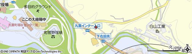 大分県玖珠郡九重町右田1324周辺の地図