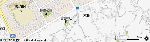 大分県大分市木田(木田東部)周辺の地図