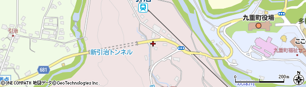 大分県玖珠郡九重町町田5443周辺の地図