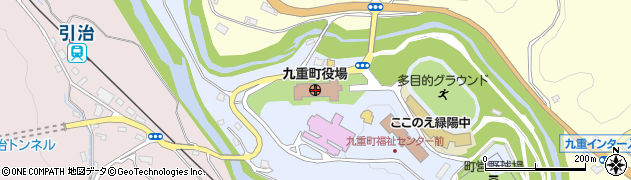 大分県玖珠郡九重町周辺の地図