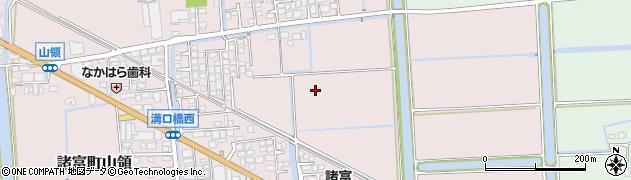 佐賀県佐賀市諸富町大字山領周辺の地図