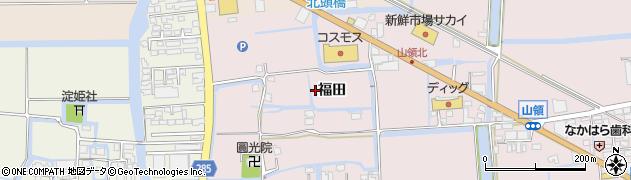 佐賀県佐賀市福田周辺の地図