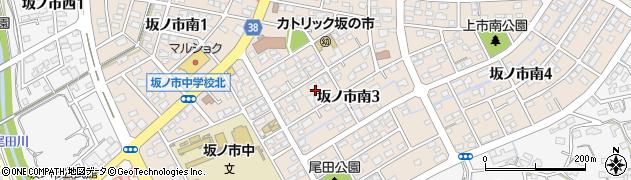 大分県大分市坂ノ市南周辺の地図