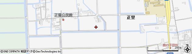 佐賀県佐賀市本庄町(正里)周辺の地図