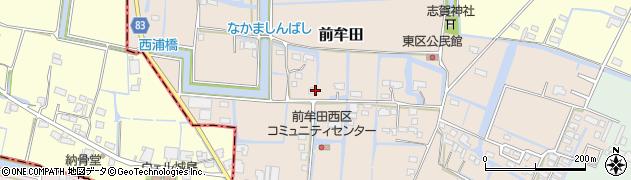 福岡県大木町(三潴郡)前牟田周辺の地図