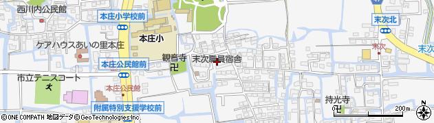 佐賀県佐賀市本庄町周辺の地図