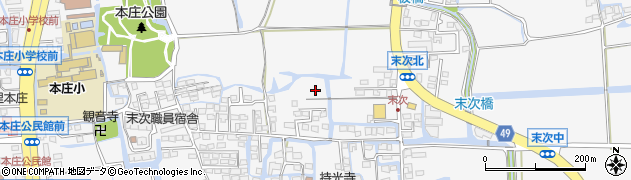 佐賀県佐賀市本庄町(末次)周辺の地図