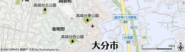大分県大分市高城台周辺の地図