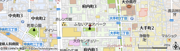 大分県大分市府内町周辺の地図