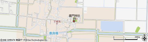 福岡県久留米市城島町下青木周辺の地図