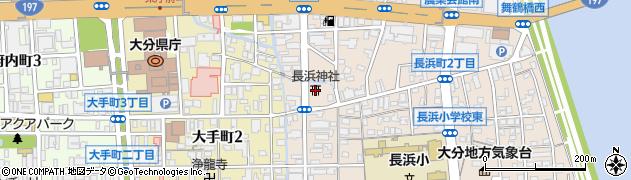 長浜神社周辺の地図