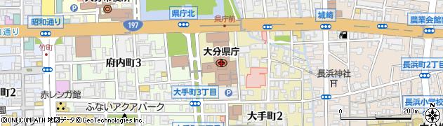 大分県周辺の地図