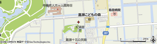 佐賀県佐賀市嘉瀬町(十五)周辺の地図