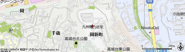 大分県大分市岡新町周辺の地図