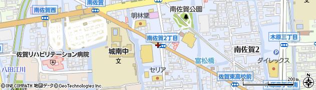 佐賀県佐賀市南佐賀周辺の地図