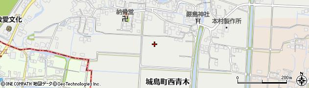 福岡県久留米市城島町西青木周辺の地図