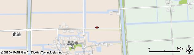 佐賀県佐賀市北川副町(光法)周辺の地図
