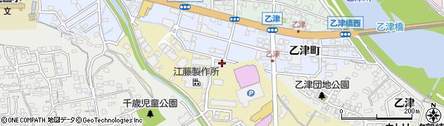 大分県大分市乙津町周辺の地図