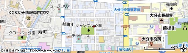 大分県大分市都町周辺の地図