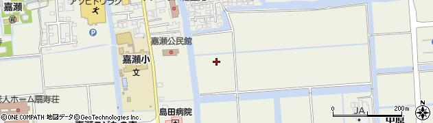 佐賀県佐賀市嘉瀬町周辺の地図