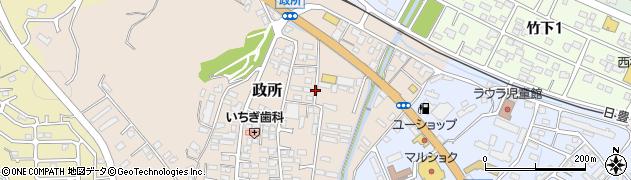 大分県大分市政所周辺の地図